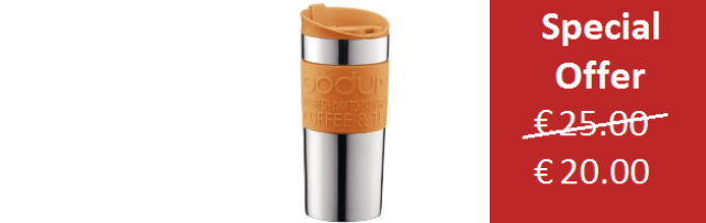 TRAVEL MUG VACUUM ORANGE SMALL 0.35 LT - B0411068-948