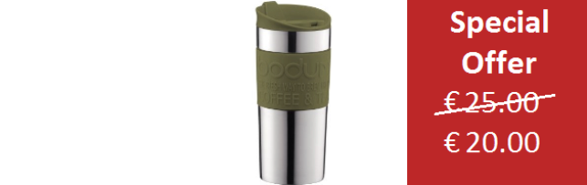 TRAVEL MUG VACUUM OLIVE GREEN COLOUR SMALL 0.35 LT - B0411068-947