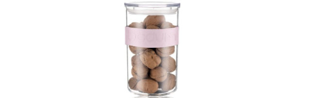 PRESSO STORAGE JAR, PALE PINK COLOUR, 0.6 LT - B0411828-340