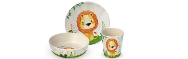 "CHILDREN SET GIFT BOXED BAMBOO ""HAPPY LION' - P02603678"