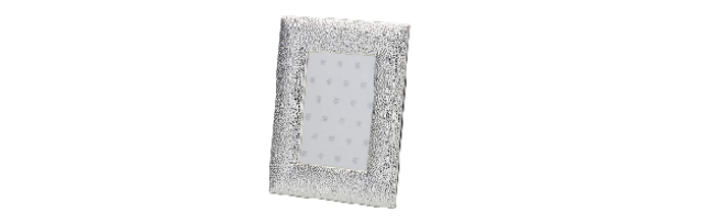 VARNISHED SILVER-PLATE PHOTO FRAME 10X15 CM - H0730024