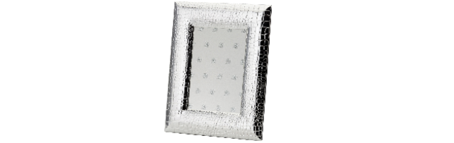 "VARNISHED SILVER-PLATE PHOTO FRAME ""SNAKE"" 10X15 CM - H0730030"