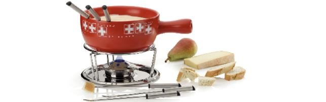 "CHEESE FONDUE ""BERNE""  10-PC SET W/PASTE BURNER - M0261303"