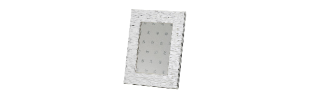 "VARNISHED SILVER-PLATE PHOTO FRAME ""WAVY""10X15 CM - H0730028"