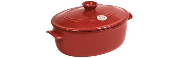 OVAL FLAME, GRENADE/RED, STEW POT 29 CM / 4,7 LT - E01344547