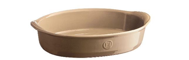 OVAL OVEN DISH ULTIME, LIGHT BROWN 35 X 23 CM - E01969052