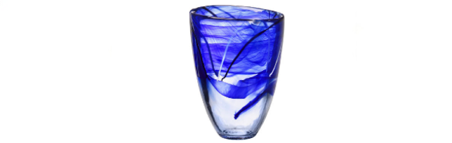CONTRAST VASE BLUE H:20 CM - K0141012