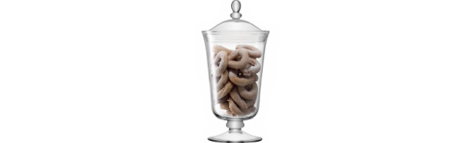 "BONBON JAR ""SERVE"" CLEAR H:38 CM  - L05G91238301"