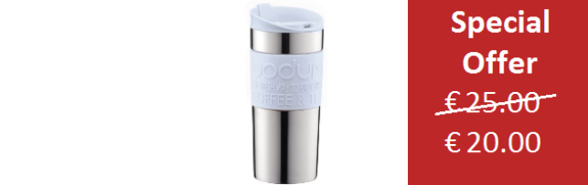 TRAVEL MUG VACUUM PALE BLUE COLOUR SMALL 0.35 LT - B0411068-338