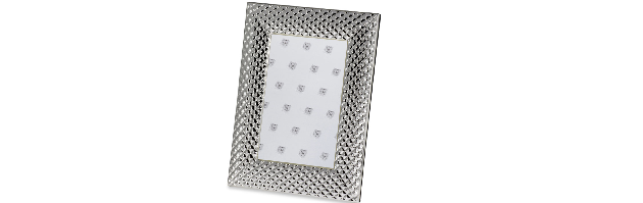 "VARNISHED SILVER-PLATE PHOTO FRAME ""DIAMOND"" 13X18 CM - H0730094"