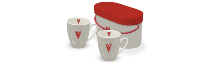 "SET OF 2 MUGS - GIFT BOXED ""DU & ICH"" - P02603606"