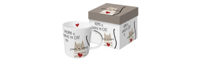 "TREND MUG - GIFT BOX ""HOME CAT"" - P02603421"
