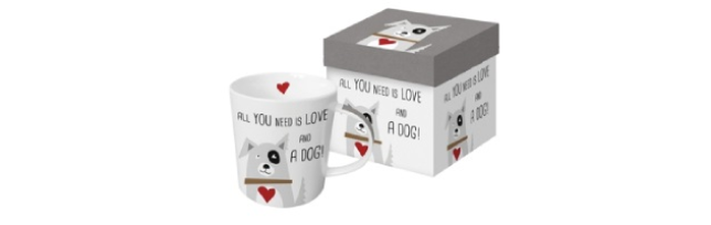 "TREND MUG - GIFT BOX ""LOVE AND DOG"" - P02603422"