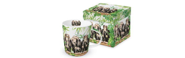 "TREND MUG - GIFT BOX ""THREE APES"" - P02603965"