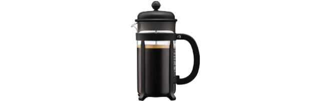 JAVA FRENCH PRESS COFFEE MAKER 8-CUP, BLACK, 1.0 LT - B041908-01