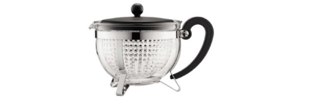 CHAMBORD TEA POT 1.30 LT, W.PLASTIC LID, HANDLE & KNOB, BLACK - B041970-01