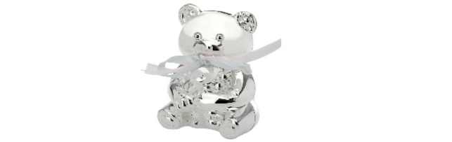 VARNISHED SILVER-PLATE BEAR MONEY BOX - H0704156