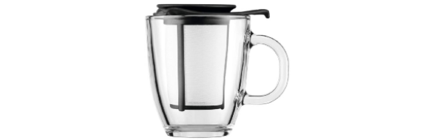YO-YO SET MUG & TEA STRAINER, 0.35 LT, BLACK - B04K11239-01