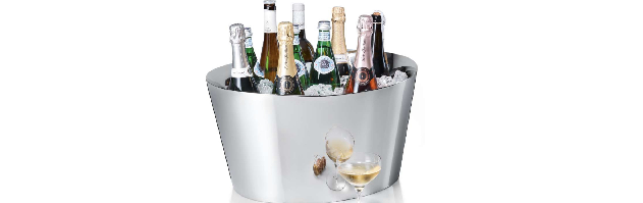 "CHAMPAGNE BUCKET DOUBLE WALL S/S POLISHED ""CANNES"" 53X44 CM - P06116009"