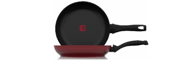 BCHEF - FRYING PAN RED D:24 CM - B06BC3U-P24