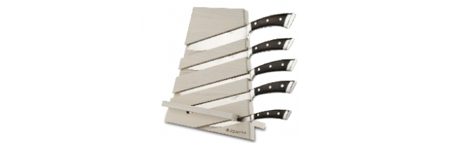 "WOODEN BLOCK WITH 5 KITCHEN KNIVES ""PAKKA"" - B0678-992F1L"