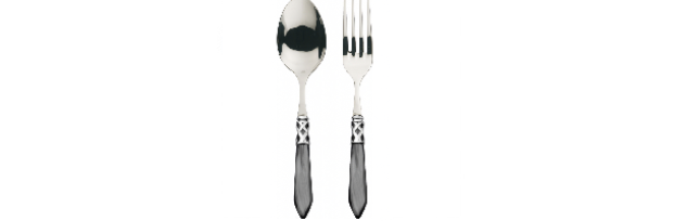"2-PC SERVING SET ""ALADIN"" BLACK COLOUR - B06ALCNM-N4211/12"