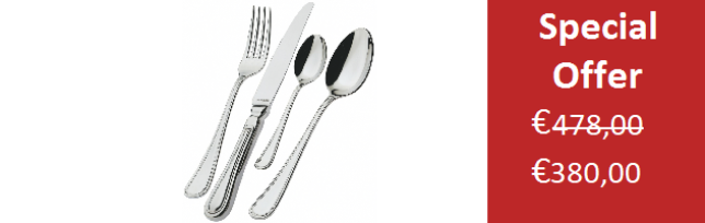 ENGLAND POLISHED, 12 PERSONS CUTLERY SET - 75 PIECES - B06IN-0530