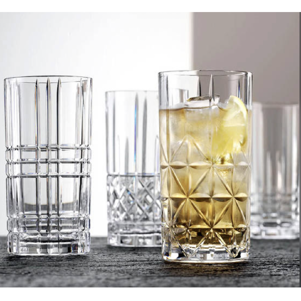 "SET OF 4 LONG DRINK TUMBLERS ""HIGHLAND"" - N02097784"