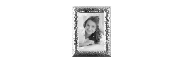 "SILVER-PLATE PHOTO FRAME HAMMERED ""CLEO"" 10X15 CM - F01133180"