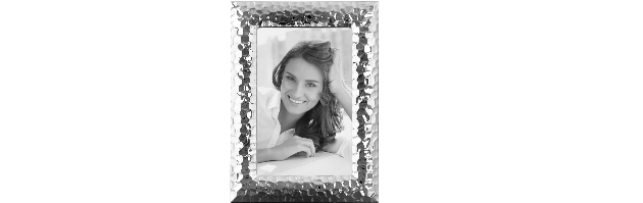 "SILVER-PLATE PHOTO FRAME HAMMERED ""CLEO"" 13X18 CM - F01133181"