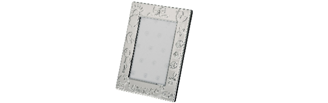 VARNISHED SILVER-PLATE PHOTO FRAME 10X15 CM - H073748