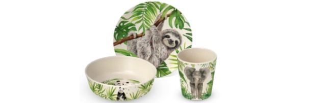 "CHILDREN SET GIFT BOXED BAMBOO ""TROPICAL' - P02603680"