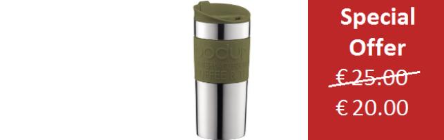 TRAVEL MUG VACUUM OLIVE GREEN COLOUR SMALL 0.35 LT - B0411068-947