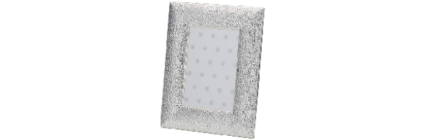 VARNISHED SILVER-PLATE PHOTO FRAME 13 X 18 CM - H0730025