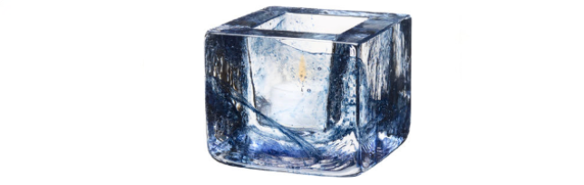 BRICK VOTIVE BLUE - K0161032