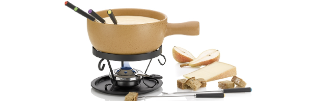 CHEESE FONDUE 9-PCS SET ''TESSIN'' W/PASTE BURNER - M0261305