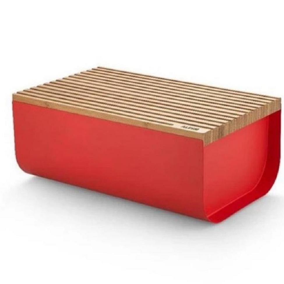 "BREAD BOX / BREAD BIN RED ""MATTINA"" -  A10BG03R"