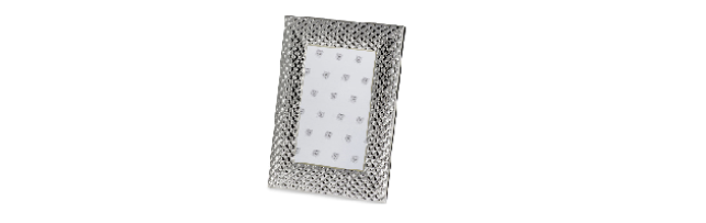 "VARNISHED SILVER-PLATE PHOTO FRAME ""DIAMOND"" 10X15 CM - H0730093"