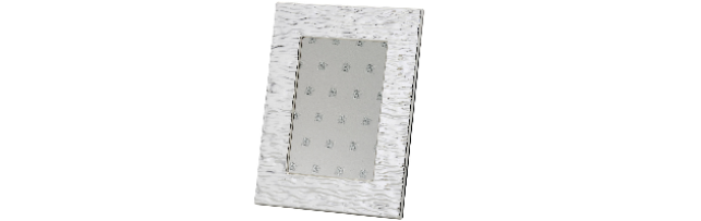 """VARNISHED SILVER-PLATE PHOTO FRAME """"WAVY""""13X18 CM - H0730029"""