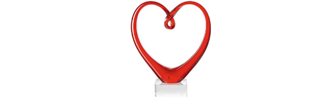 """SCULPTURE RED """"HEART"""" - L03090871"""