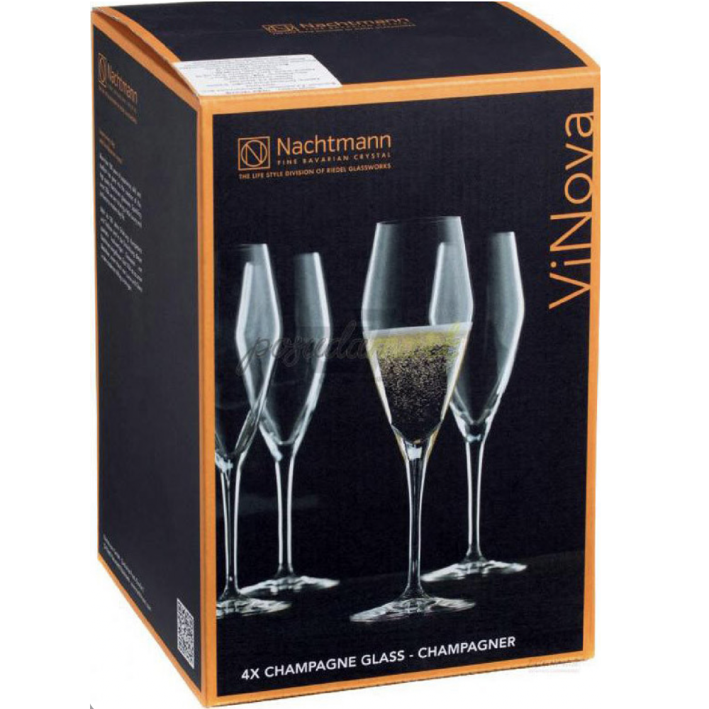 """SET OF 4 CHAMPAGNE GLASSES """"VINOVA"""" - N02098075"""